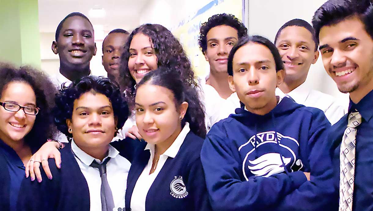 Hyde Leadership Charter School students