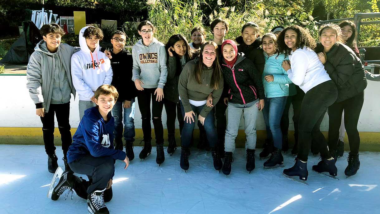 Our World Neighborhood Charter School students