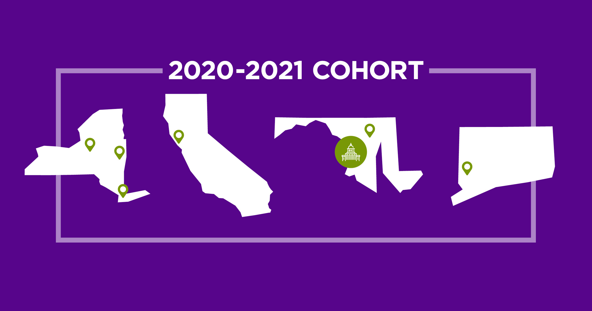 2020-2021 NYU Teacher Residency cohort and states
