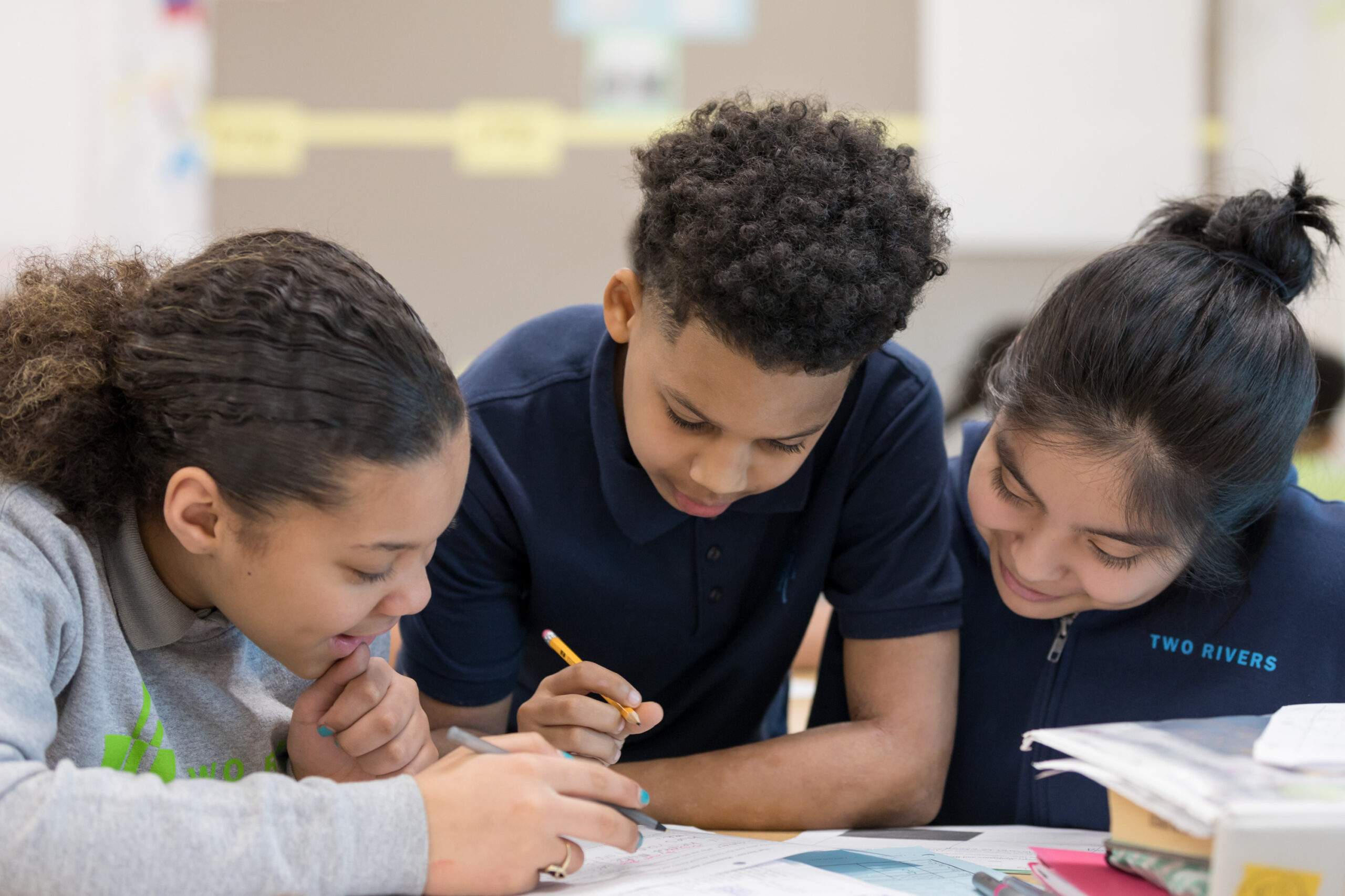 Two Rivers Public Charter Schools students work together